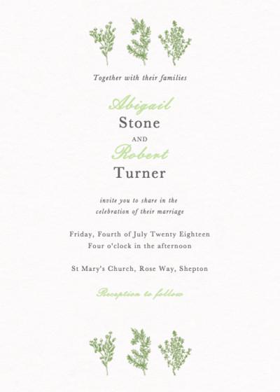 Sprigs   Personalised Wedding Invitation