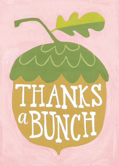 Thanks a Bunch | Personalised Thank You Card