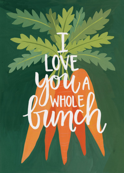 Bunch of Carrots | Personalised Greeting Card