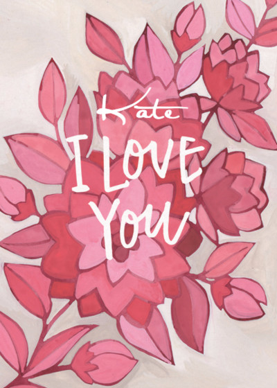 Floral Love | Personalised Greeting Card