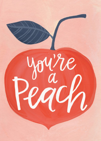 Peachy | Personalised Thank You Card
