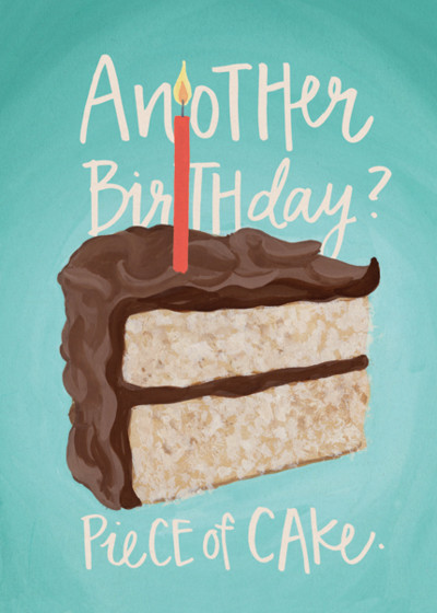 Piece of Cake | Personalised Birthday Card