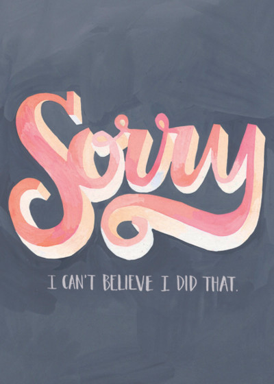 Sorry | Personalised Greeting Card