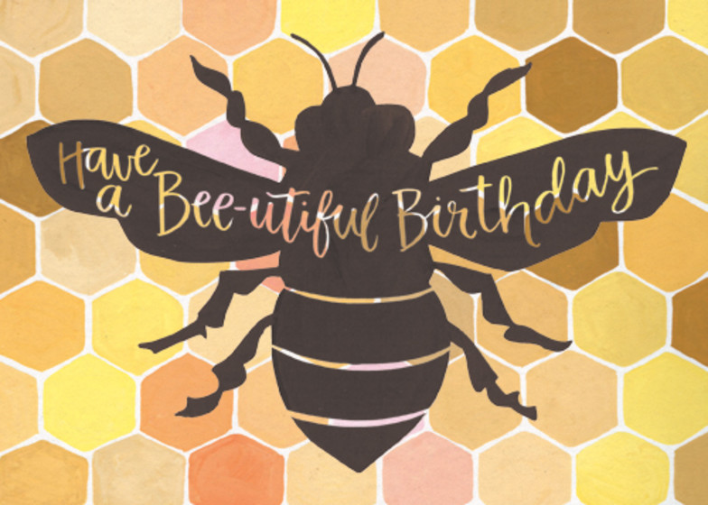 Bee-utiful | Personalised Birthday Card