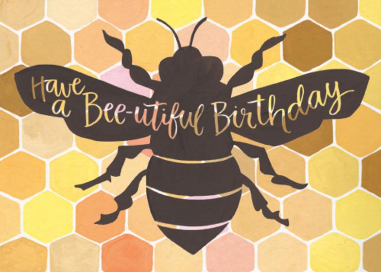 Bee-utiful | Personalised Birthday Card