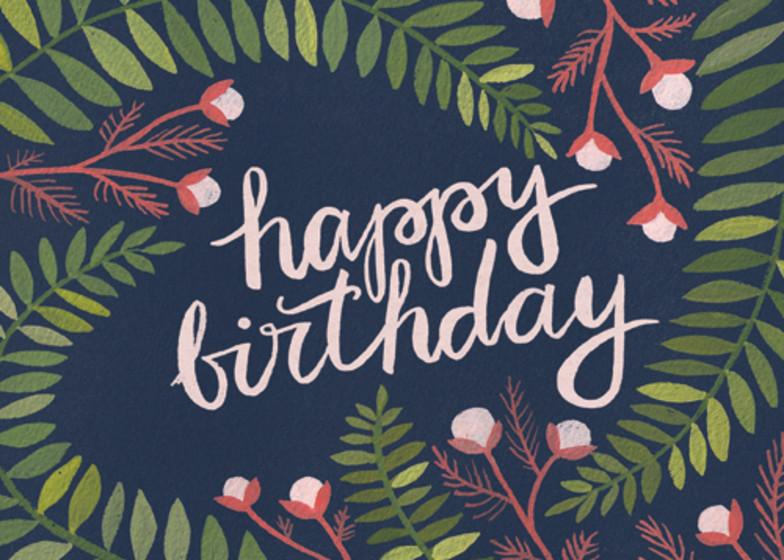 Birthday Ferns | Personalised Birthday Card