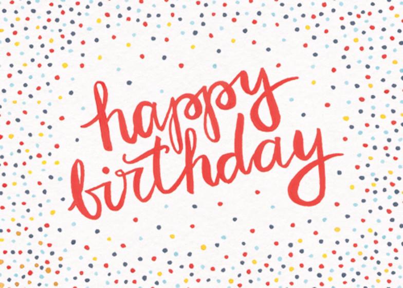 Birthday Confetti | Personalised Birthday Card