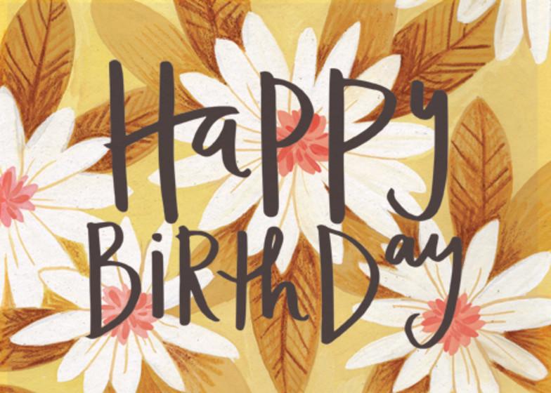 Birthday Daisies | Personalised Birthday Card