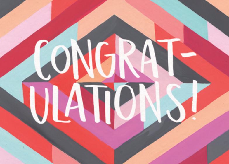 Congratulations Diamonds | Personalised Congratulations Card