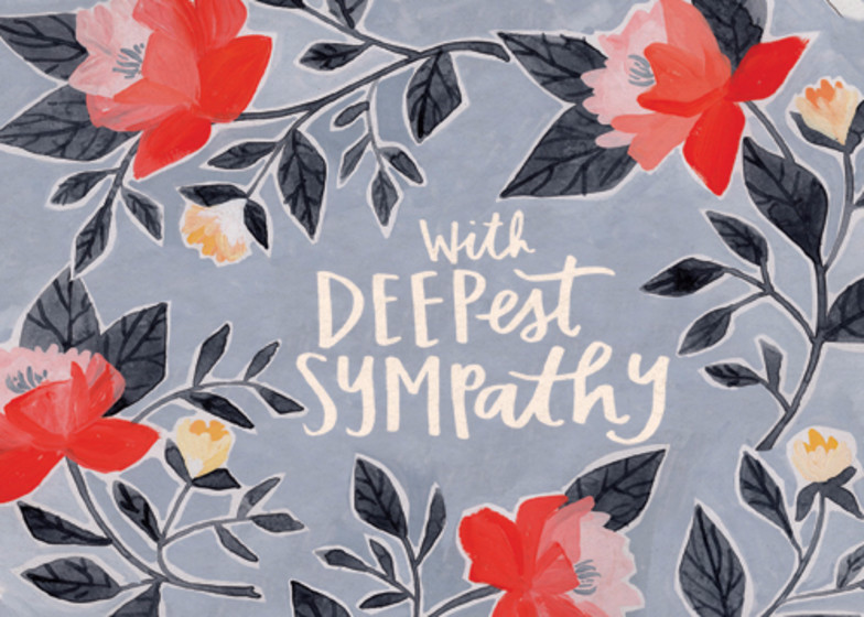 Deepest Sympathy | Personalised Greeting Card
