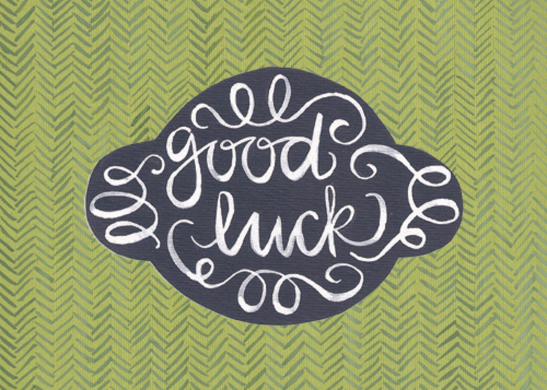 Good Luck | Personalised Good Luck Card