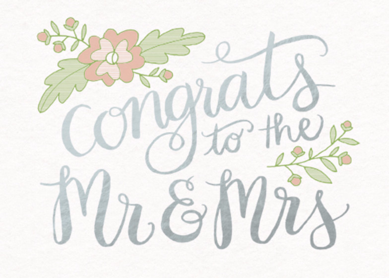 Mr & Mrs | Personalised Congratulations Card