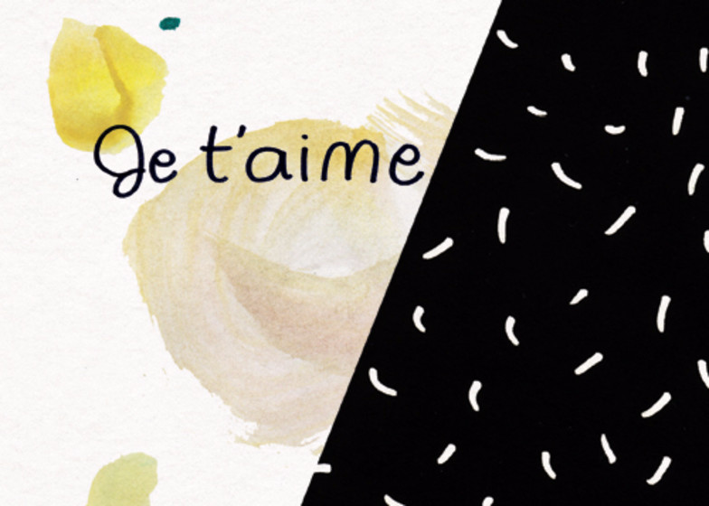 Je t'aime | Personalised Greeting Card