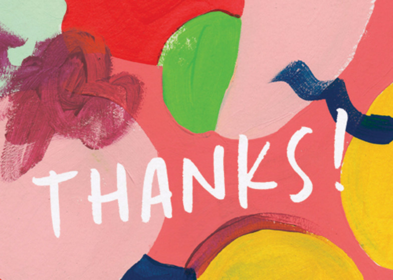 Painterly | Personalised Thank You Card