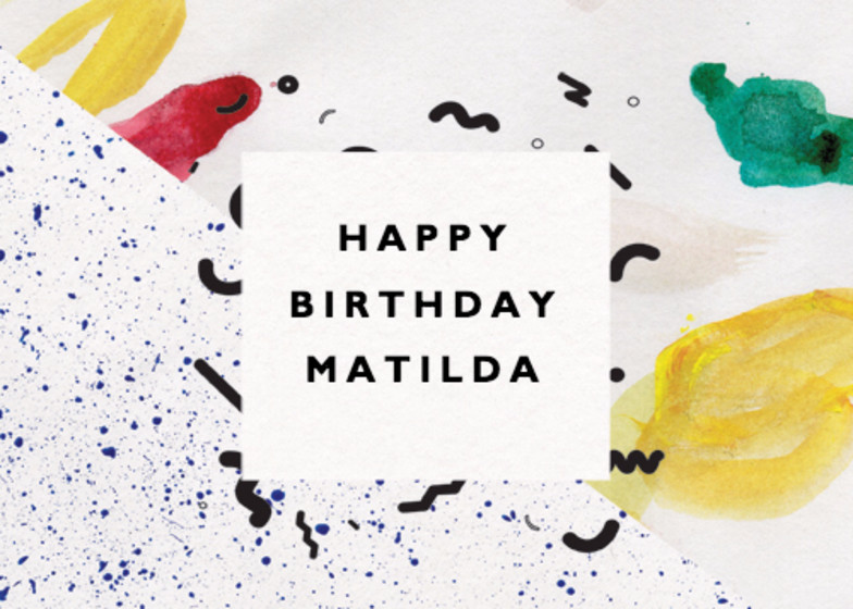 Pollock | Personalised Birthday Card