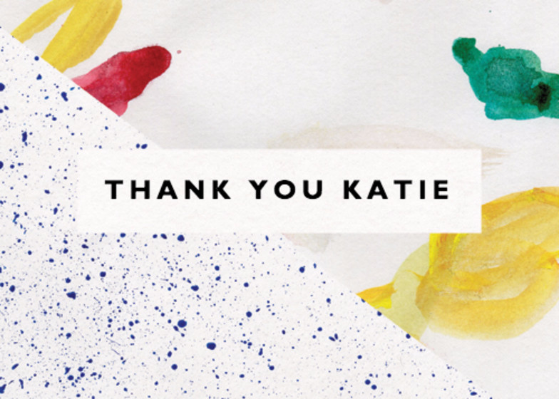 Splattered | Personalised Thank You Card
