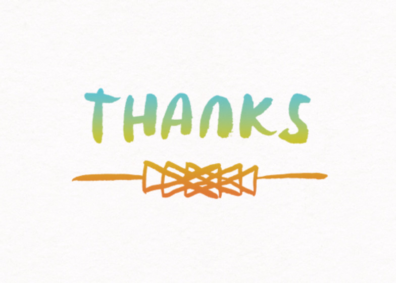 Neon Arrowhead | Personalised Thank You Card