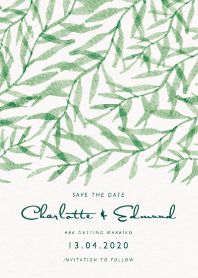 Falling Leaves | Personalised Save The Date