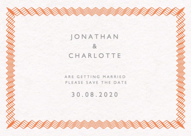 Electric | Personalised Save The Date
