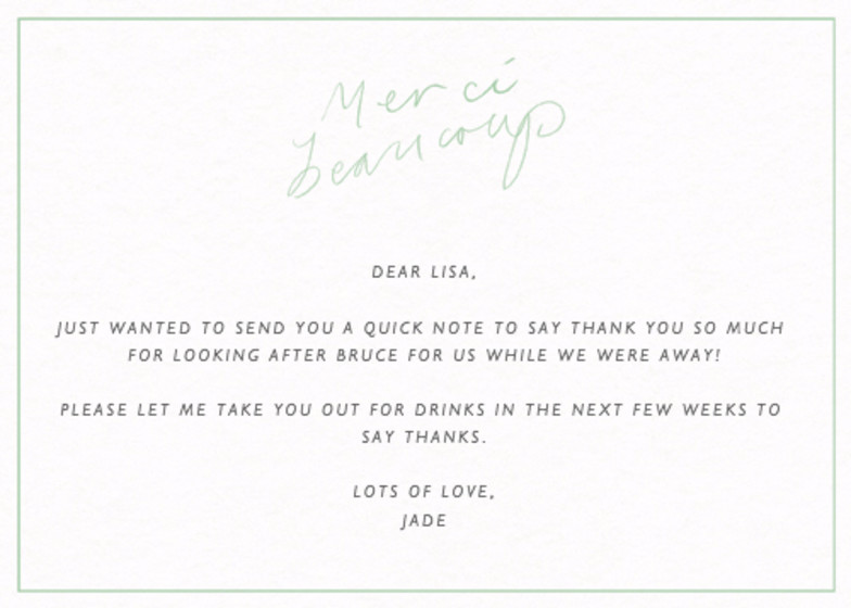 Merci Beaucoup | Personalised Thank You Card