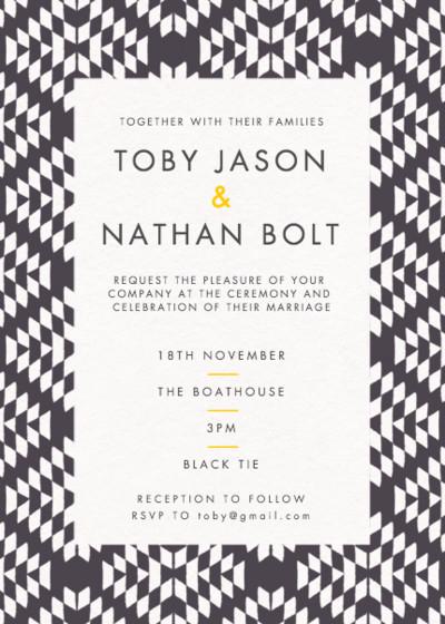 Jackson | Personalised Wedding Invitation