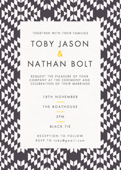 Jackson | Personalised Wedding Invitation