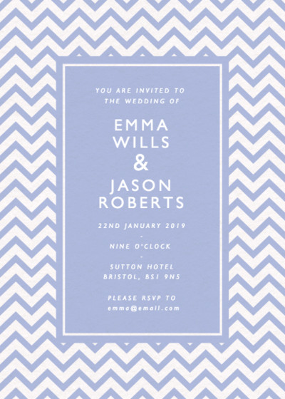 Chevrons | Personalised Wedding Invitation
