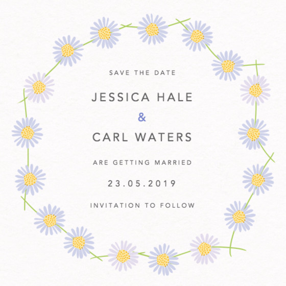 Daisy Chain | Personalised Save The Date