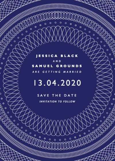 Spirograph | Personalised Save The Date