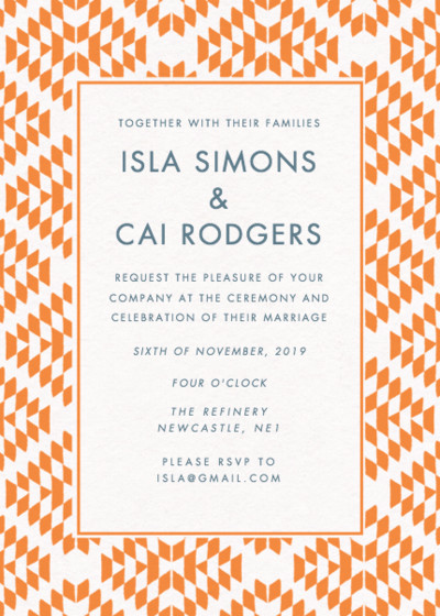 Scottsdale | Personalised Wedding Invitation