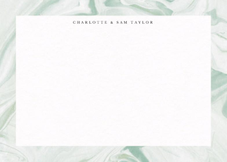 Marbled Vert | Personalised Stationery Set