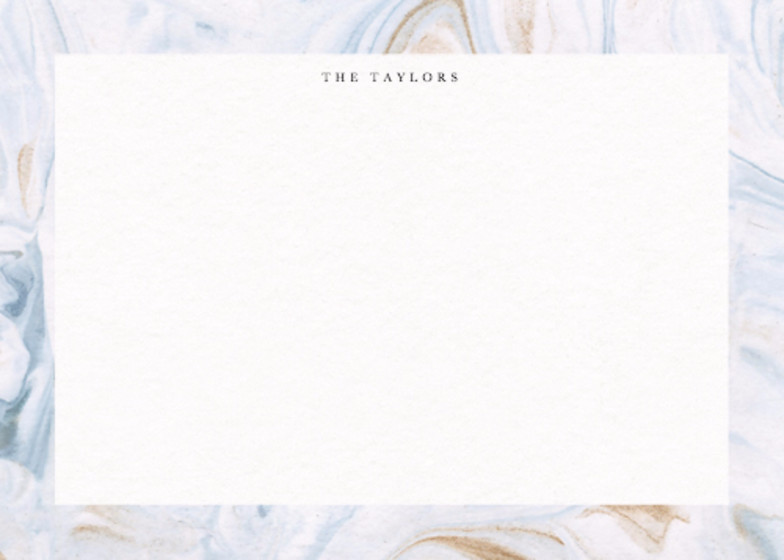 Marbled Bleu | Personalised Stationery Set