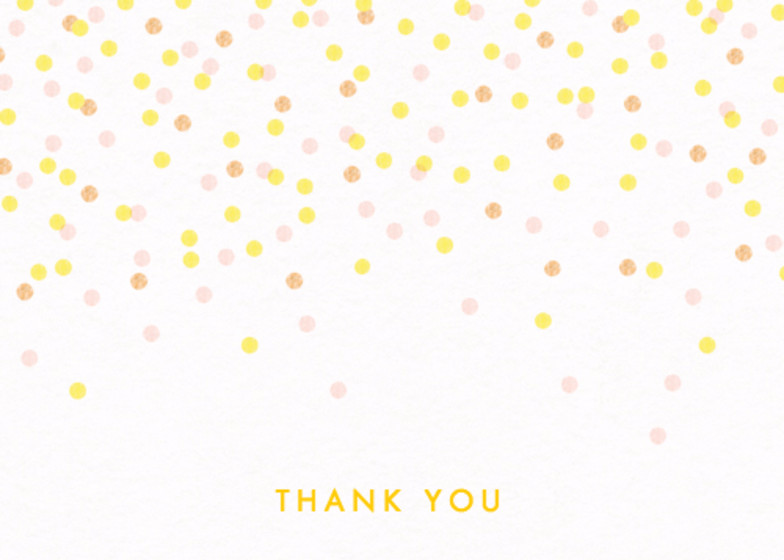 Confetti | Personalised Thank You Card Set