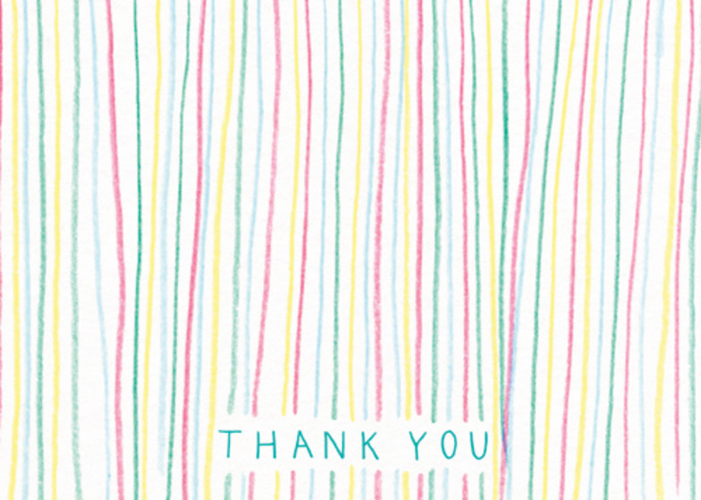 Stripes | Personalised Thank You Card Set