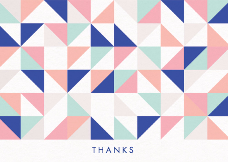 Geometric | Personalised Thank You Card Set