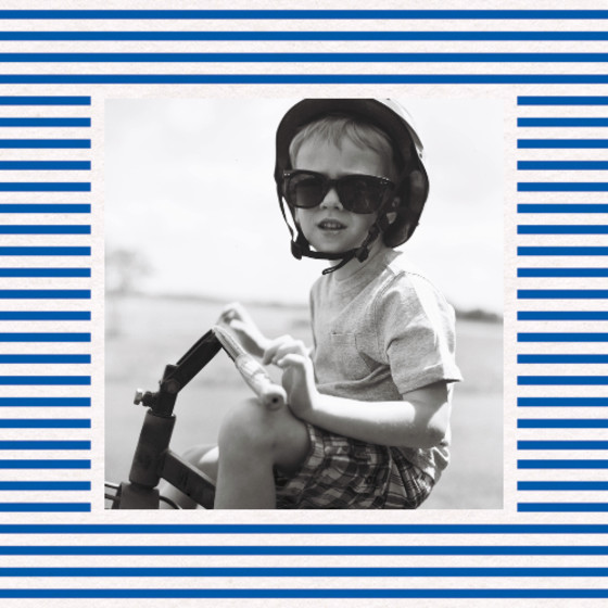 Sailor Stripes Photo | Personalised Photo Card Set