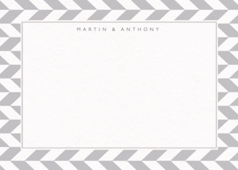 Grey Herringbone | Personalised Stationery Set