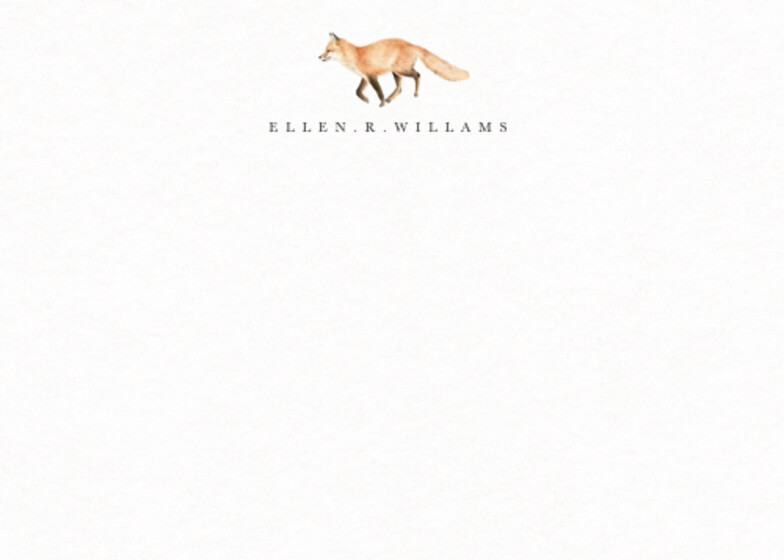 Fox | Personalised Stationery Set