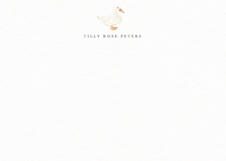 Duck   Personalised Stationery Set