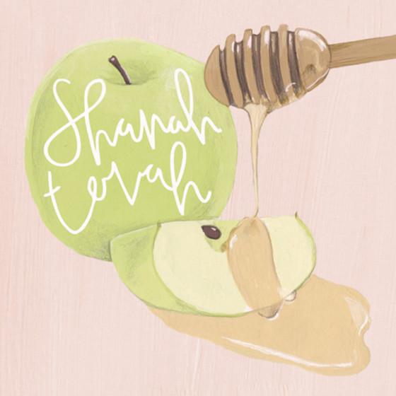 Apple & Honey   Personalised Rosh Hashanah Card