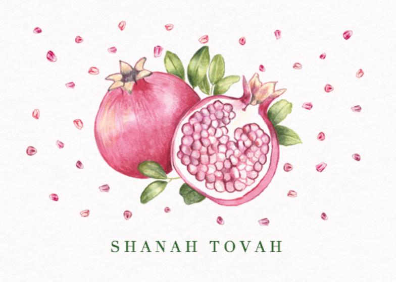 Pomegranate   Personalised Rosh Hashanah Card