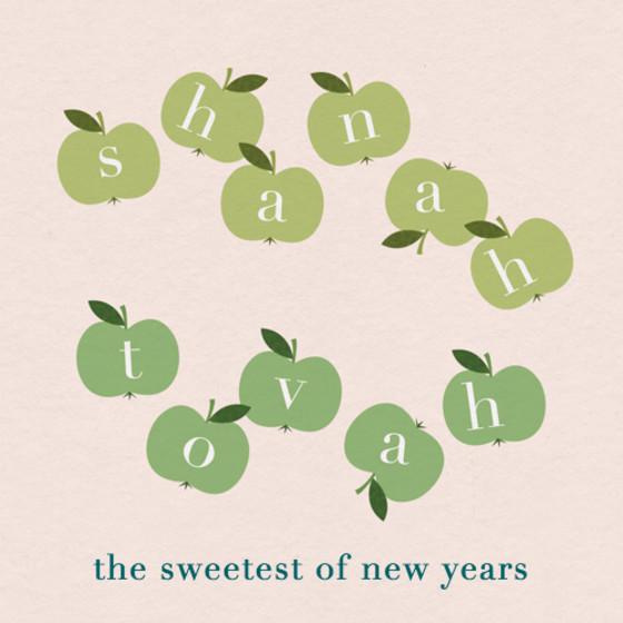 Apples   Personalised Rosh Hashanah Card