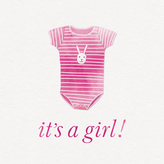It's A Girl! | Personalised Congratulations Card