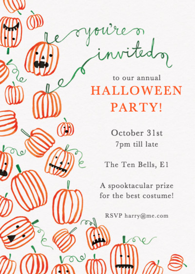 Pumpkins | Personalised Party Invitation