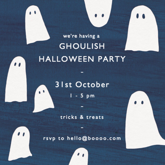 Ghosts | Personalised Party Invitation
