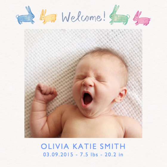 Welcome Baby | Personalised Birth Announcement
