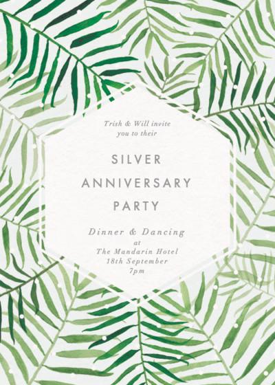 Palms | Personalised Anniversary Invitation
