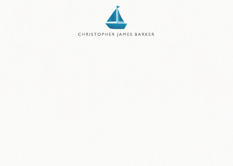 Sailboat  | Personalised Stationery Set
