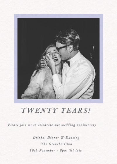 Frame Photo | Personalised Anniversary Invitation