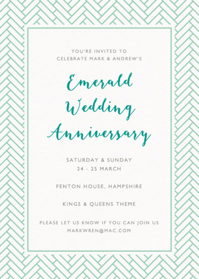 Remy | Personalised Anniversary Invitation